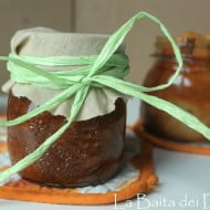 Apple cake in a jar