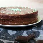 Torta soffice alla menta e cioccolato