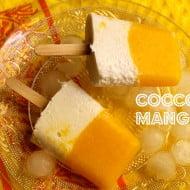 Ghiaccioli al cocco e mango