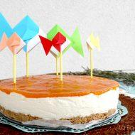 Cheesecake al cioccolato bianco con le peschenoci